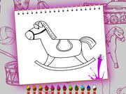 Coloring Book Toy Shop